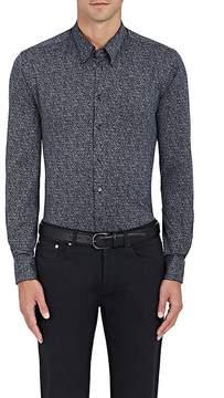 Giorgio Armani Men's Mélange Cotton Button-Front Shirt