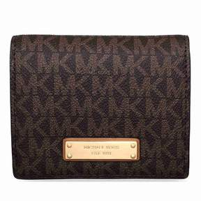 Michael Kors Jet Set Card Holder- Brown - AS SHOWN - STYLE