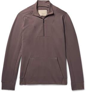 Zimmerli Fleece-Back Stretch-Cotton Jersey Half-Zip Sweatshirt