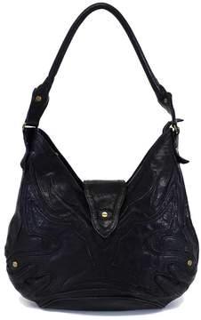 Botkier Black Textured Leather Shoulder Bag