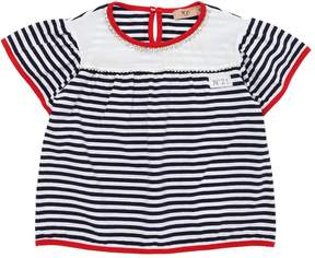 N°21 Striped Cotton Jersey T-Shirt