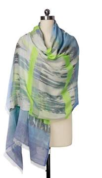 Saachi Women's Abstract Wave Scarf.
