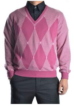 Ballantyne Men's Purple Cashmere Sweater.
