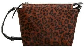 MANGO Leopard leather cross body bag