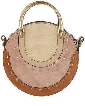 Chloé Pixie Small Shoulder Bag Suede Pearl Beige