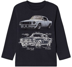 Mayoral Grey Car Design Long-Sleeved Tee