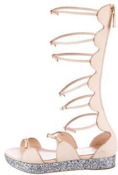 Giambattista Valli Vacchetta Glitter Sandals