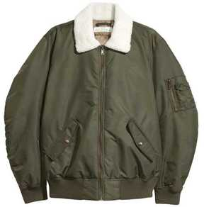 H&M Bomber Jacket with Pile Collar