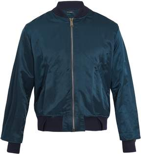 Longjourney Zip-through cotton bomber jacket