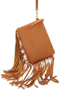 Forever 21 Faux Suede Fringe Clutch