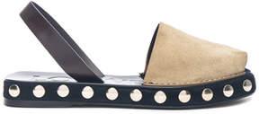 Loewe Suede Slingback Stud Sandals