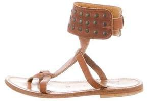 K Jacques St Tropez Studded Ankle Strap Sandals