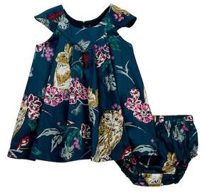 Tea Collection Caledonian Forest Dress & Bloomers Set (Baby Girls)