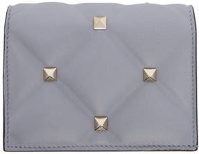 Valentino Blue Garavani Candystud Flap French Wallet