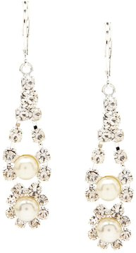 Cezanne Faux-Pearl & Rhinestone Drop Earrings