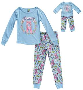 Dollie & Me Girls 4-14 Dance Ballet Top & Bottoms Pajama Set