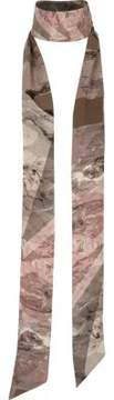 River Island Womens Khaki camo chiffon skinny scarf