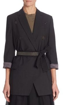 Brunello Cucinelli Wool-Blend Belted Jacket