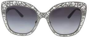 Dolce & Gabbana Dg2164 04/8g Gunmetal Cateye Sunglasses.