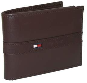 Tommy Hilfiger Men's Leather Ranger Passcase Billfold Wallet, Brown