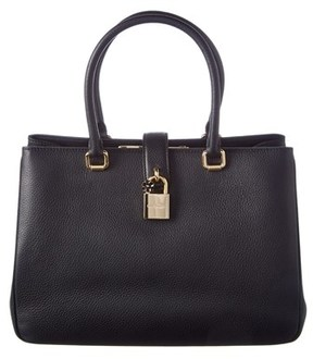 Dolce & Gabbana Leather Dolce Tote. - BLACK - STYLE