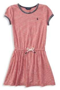 Ralph Lauren Little Girl's& Girl's Nautical Striped Cotton Dress