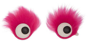 Anya Hindmarch Pink Furry Shearling Eyes Stickers