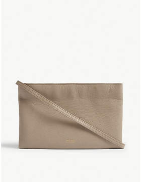 Max Mara Double compartment leather clutch