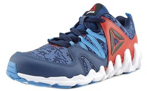Reebok Zig Big N' Fast Fire Gr Round Toe Canvas Sneakers.