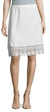 Isaac Mizrahi IMNYC Eyelet and Lace Fit and Flare Skirt