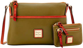 Dooney & Bourke Claremont Ginger Crossbody & Small Coin Case - OLIVE - STYLE