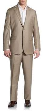Saks Fifth Avenue BLACK Classic-Fit Wool & Silk Two-Button Suit