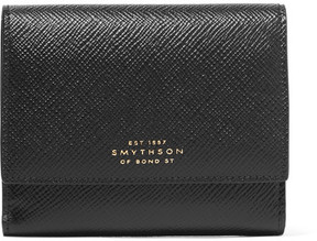 Smythson - Panama Textured-leather Wallet - Black