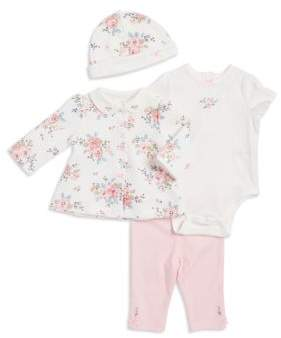Little Me Baby's Four-Piece Tee, Bodysuit, Hat & Pants Printed Set