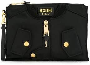 Moschino biker clutch bag