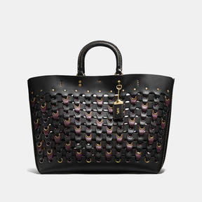 COACH Coach Rogue Tote With Link - BRASS/BLACK MULTI - STYLE