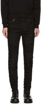 Marcelo Burlon County of Milan Black Gil Biker Jeans