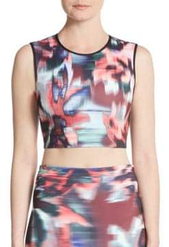 Clover Canyon Floral Ikat Cropped Top