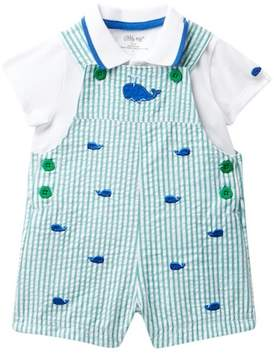 Little Me Whales Shortall Set (Baby Boys 3-9M)