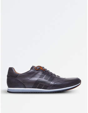 Magnanni Perforated leather trainers