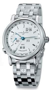 Ulysse Nardin GMT Perpetual Silver Dial 18kt White Gold Men's Watch