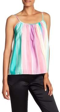 Amanda Uprichard Kitten Colorblock Stripe Silk Blouse