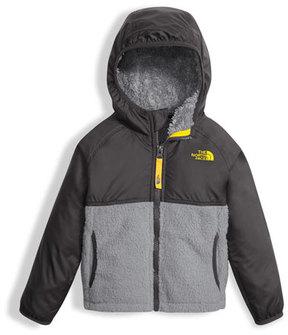 The North Face Sherparazo Taffeta & Fleece Hooded Jacket, Gray, Size 2-4T