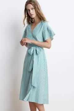 Velvet by Graham & Spencer JAYEL COTTON STRIPE WRAP DRESS