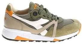 Diadora Heritage Men's Green Synthetic Fibers Sneakers.