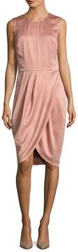 Ava & Aiden Women's Soft Faux Wrap Sleeveless Dress