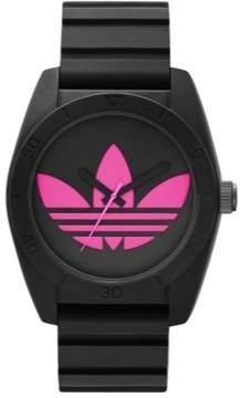 adidas Women's ADH2878 Santiago Pink Black Silicone Analog Quartz Watch