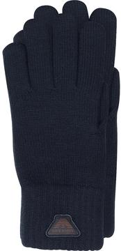 Armani Jeans Blue Wool Blend Men's Gloves