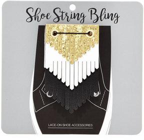 Neiman Marcus Lace-On Layered Shoe Fringe