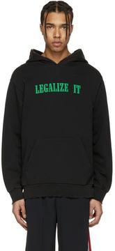 Palm Angels Black Legalize It Hoodie